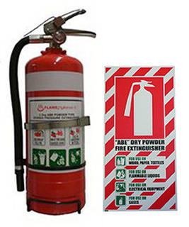 Fire Extinguisher ABE Dry Powder 4.5kg (Rating: 4A:60B:E) Combo