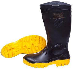 Stimela Gumboots Steel Toe Black