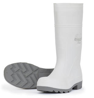 Gumboot Bison Food Safety PVC/Nitrile White