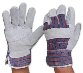 Gloves Economy Cow Split Leather Candy Back