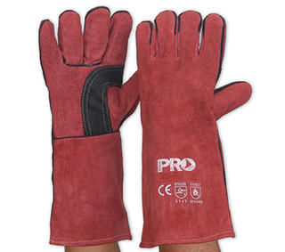 Welding Gloves Red Kevlar Stitched Length 40cm