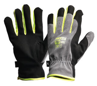 Gloves PRO-FIT RIGGAMATE Silver Synthetic Leather / Winter Lined