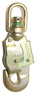 Swivel double action snap hook steel with strain indicator  25 KN