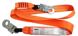 1.5m shock absorbing lanyard with 2 double action hooks