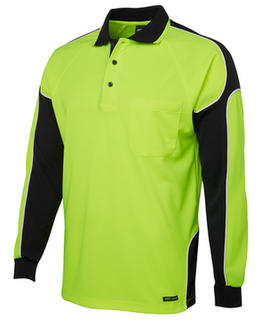 Hi Vis Long Sleeve Arm Panel Polo-Select Colour