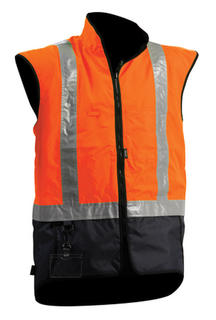 Vest Stamina Contrast Orange Navy