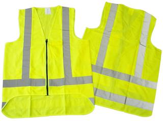 Safety Vest Hi Viz Day Night Lime/Yellow