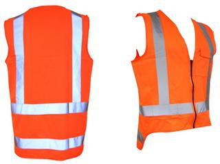 Safety Vest Hi Viz Day Night TTMC-W Orange