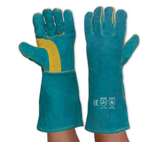 Glove South Paw Left Hand Pair - Green & Gold Kevlar