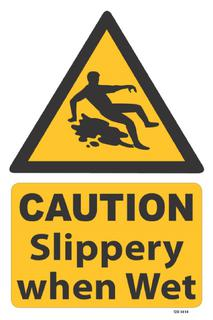 Caution-Slippery when wet 340x240mm