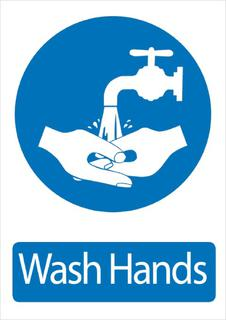 Wash Hands 340x240mm