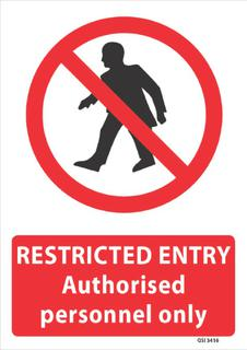 Restricted Entry 340x240mm