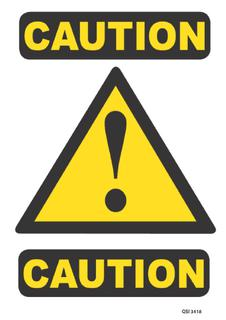 Caution 340x240mm