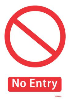 No Entry 340x240mm