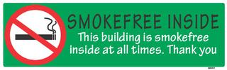 Smokefree Inside 75x240mm