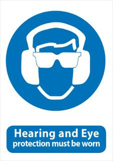 Hearing & Eye Protection 340x240mm