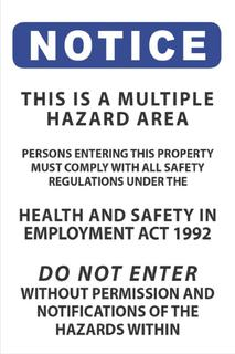 Multiple Hazard 300x450mm