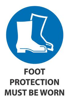Foot Protection Must Be Worn 340x240mm