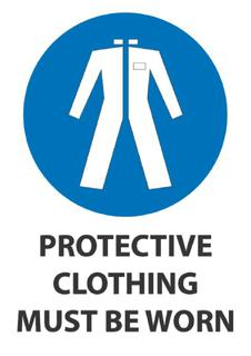 Protective Clothing Must Be Worn 340x240mm