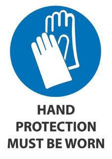Hand Protection Must Be Worn 340x240mm