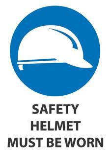 Safety Helmet Must Be Worn 340x240mm