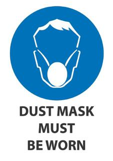 Dust Mask Must Be Worn 340x240mm