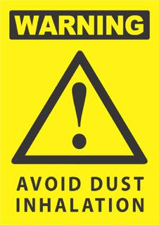 Avoid Dust Inhalation 340x240mm