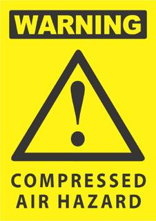 Compressed Air Hazard 340x240mm