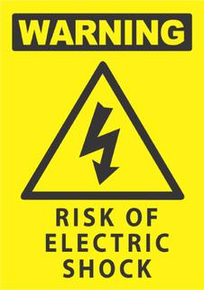Warning-Risk Of Electric Shock 340x240mm