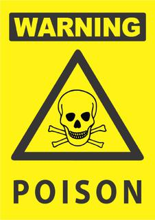 Warning -Poison 340x240mm