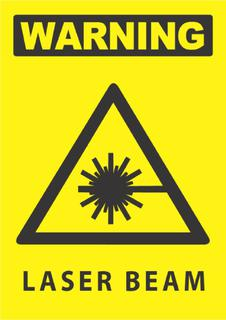 Warning-Laser Beam 340x240mm