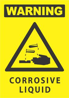 Warning-Corrosive Liquid 340x240mm