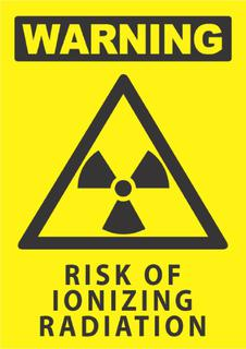 Warning-Risk of Ionizing Radiation 340x240mm