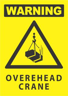 Warning-Overhead Crane 340x240mm
