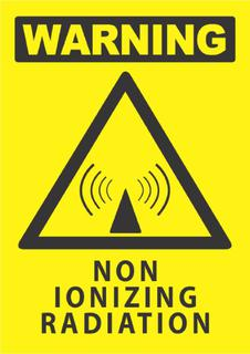 Warning-Non Ionizing Radiation 340x240mm