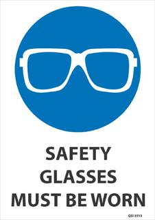 Safety Glasses must be worn 340x240mm