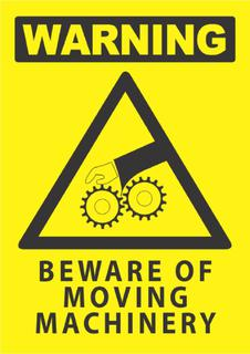 Warning-Beware Of Moving Machinery 340x240mm