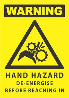 Warning-Hand Hazard 340x240mm