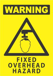 Warning-Fixed Overhead Hazard 340x240mm
