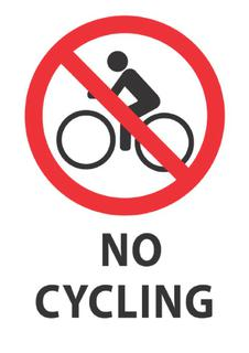No Cycling 340x240mm