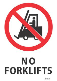 No Forklifts 340x240mm