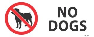 No Dogs 340x120mm