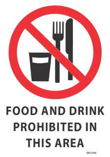 Food Drink Prohibited 340x240mm