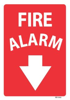 Fire Alarm 340x240mm