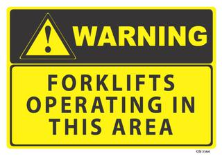 Warning Forklifts Operating 340x240mm
