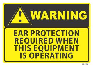 Warning Ear Protection Required 340x240mm