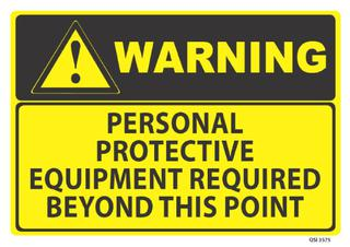 Warning Protective Equipment Required 340x240mm