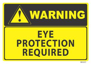 Warning Eye Protection Required 340x240mm