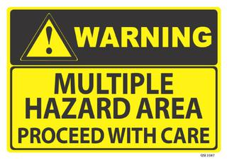 Warning Multiple Hazard 340x240mm