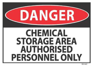 Danger Chemical Storage 340x240mm